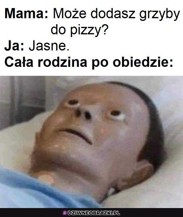 Kiedy synek zrobi pizzę