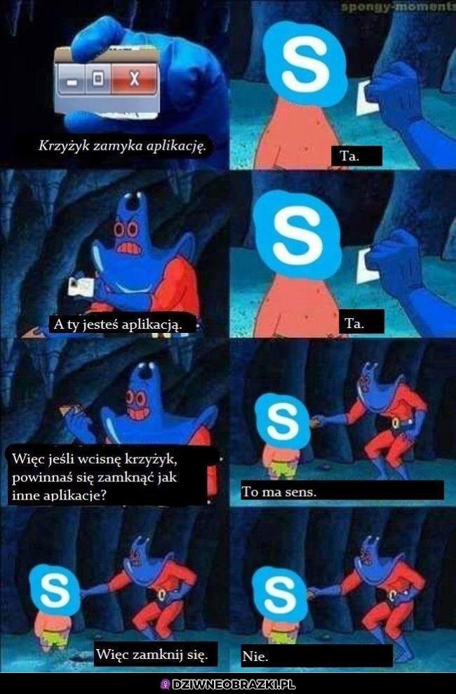 Zamykanie skype