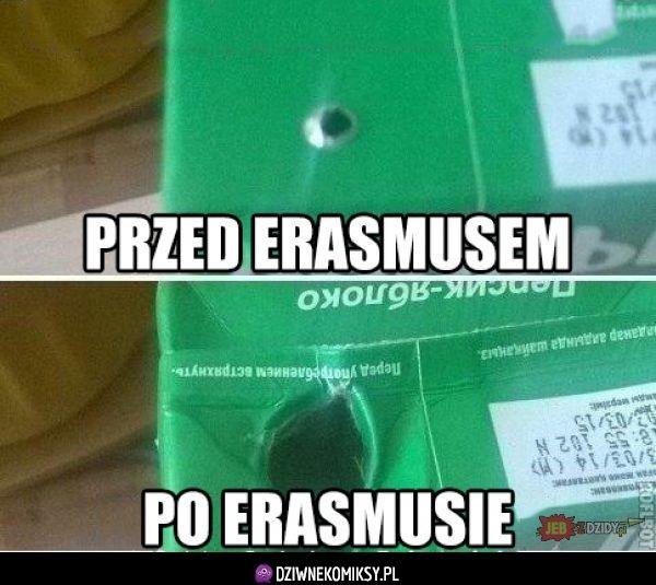Erasmus - przed i po