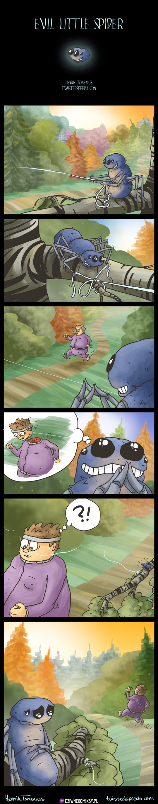 Mały wredny pajączek