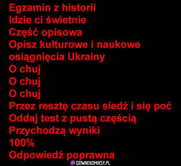 Egzamin z historii, dorobek Ukrainy