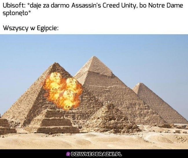 Egipt po pożarze Notre Dame