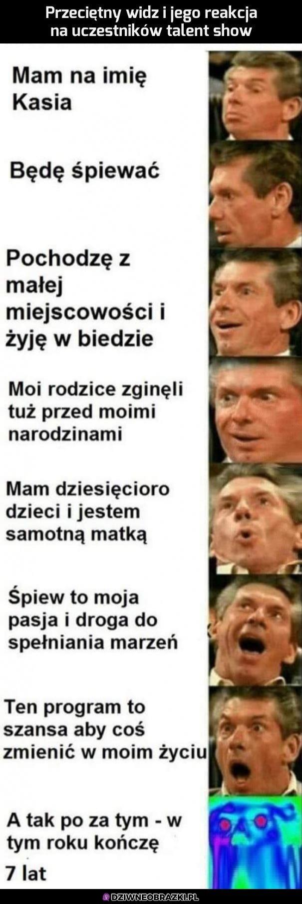 Przeciętne polskie talent show wygląda właśnie tak!