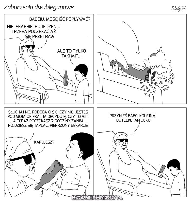 Babcia z zaburzeniami dwubiegunowymi