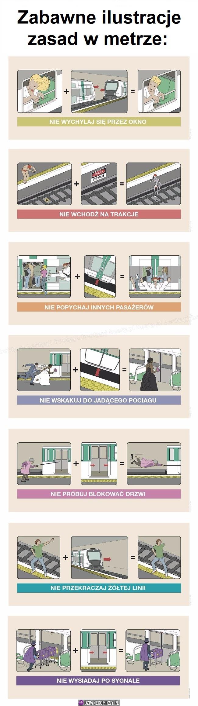 Czego nie robić w metrze