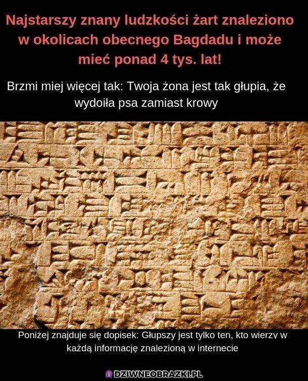 Najstarszy żart ludzkości