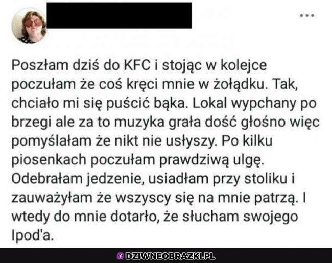 A miał być zwykły obiadek w KFC