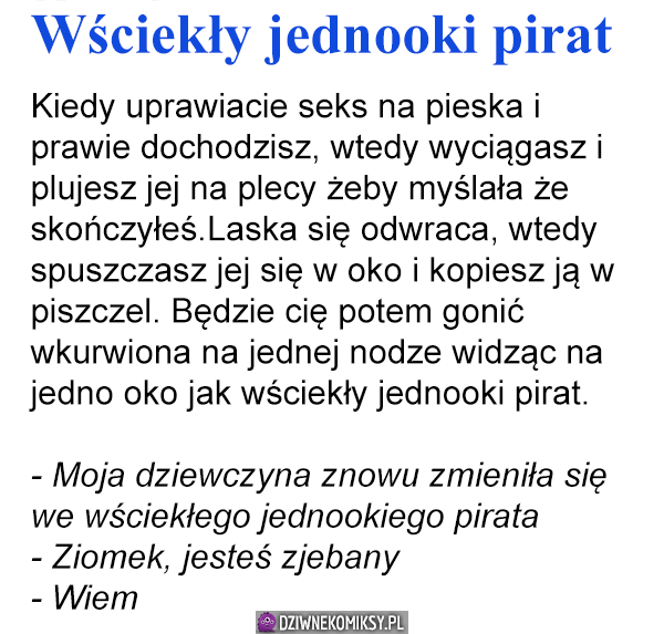 Wściekły jednooki pirat