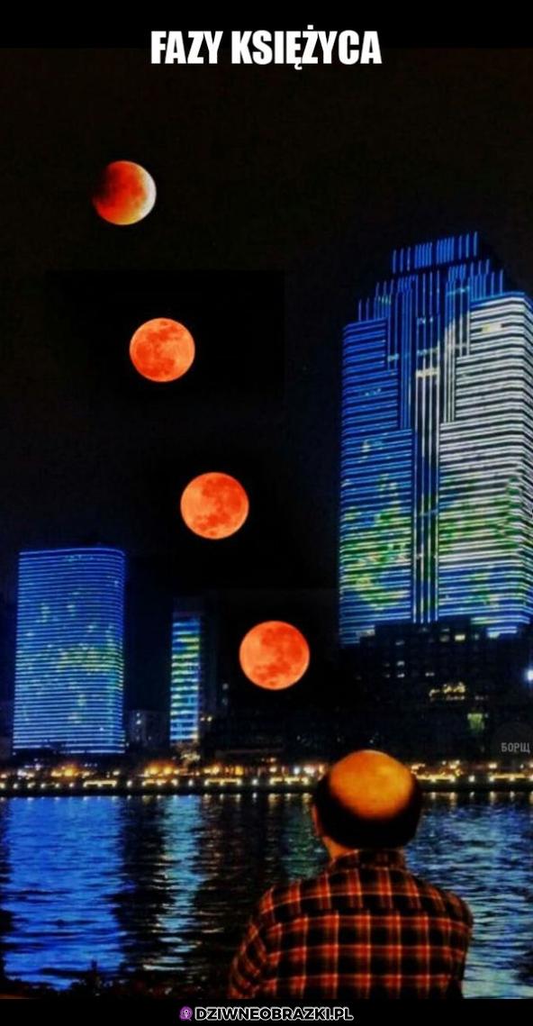 Księżyc i jego fazy