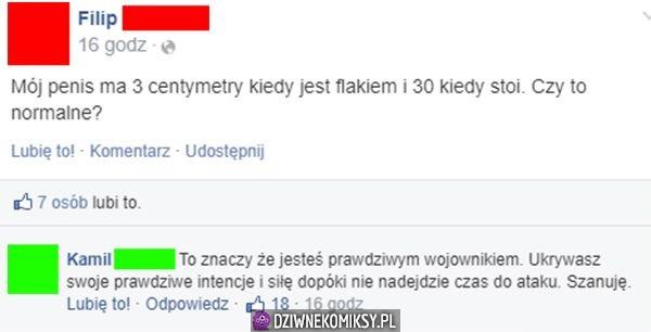 Penis ma 3 centymetry