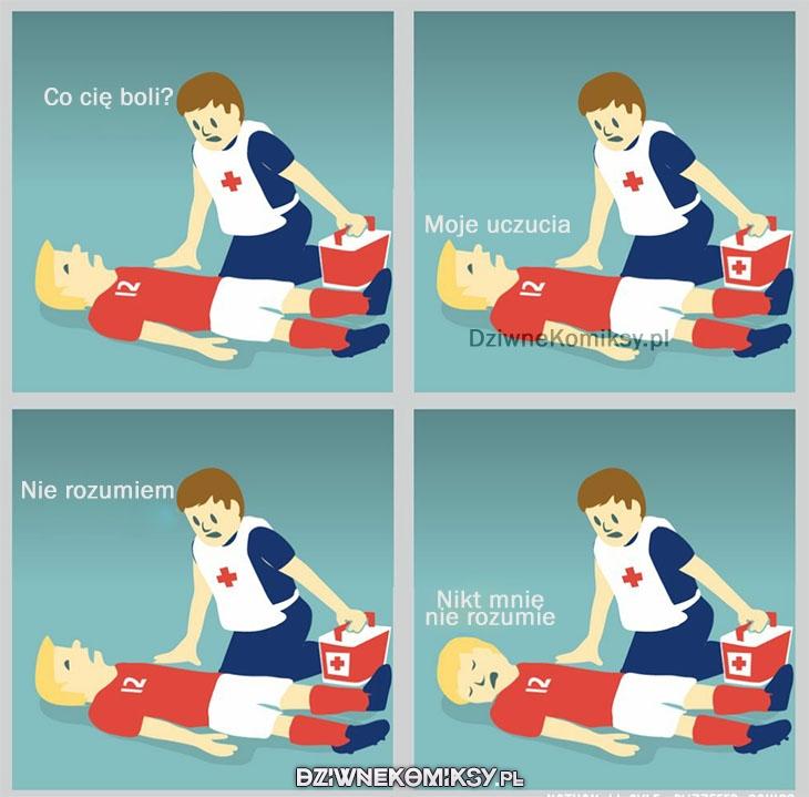 Piłkarza boli